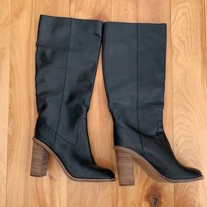 Madewell black leather boots. Size 8.5